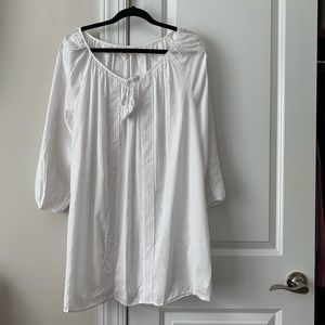 J. Crew factory white embroidered tunic